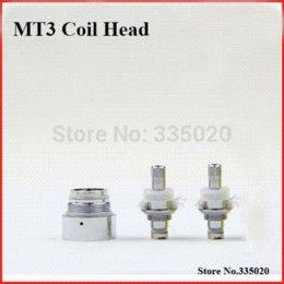 Wholesale Bottom Heating Coil Detachable - MT3 EVOD Replacement 2.4ohm Bottom Heating Coil Head Electronic Cigarette Detachable MT3 Clearomizer Coil Head Core 10pcs lot