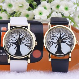 Wholesale Cheap Christmas Watches - Christmas Trees Dial Face Geneva Watches for Women Girls Wholesale Cheap Prices High Grade Dress Watches Fashion Analog Quartz Wristwatches