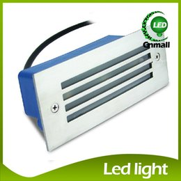 Wholesale Led Floors - LED Recessed Wall Lights Led Stair Light 3W Led Wall Lamp Night Light Led Step Light Recessed Floor Light Waterproof Outdoor Wall Lamps