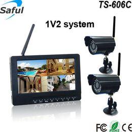 Wholesale Long Range Wireless Cameras System - 7 inch high resolution TFT digital led display Outdoor security camera system Digital wireless long range transmit CCTV camera