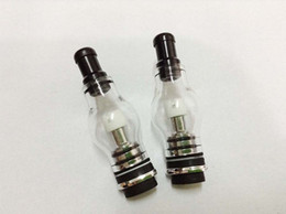 Wholesale Glass Cartomizer Bulb - DHL Free Bulb Wax Micro Atomizer Globe Glass Pyrex Glass ceramic coil for flat connector G Pen E Cigarettes Clear Cartomizer Vaporizer