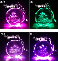 Wholesale Light Key Ring - New LOL Key Ring League Of Legends All-Star Crystal Flash LED Light Keychain Customized Cartoon crystal pendant Best Gifts Free Shipping