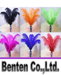 Wholesale Black Feather Plume - Wedding party supply Ostrich Feather Plume wedding centerpieces table decoration many size to choose LLFA2919F