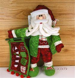 Wholesale Noel Christmas Ornament - Wholesale- Christmas Ornament Papai Noel Santa Claus Decoracao De Natal Banner The holiday Home Decoration Flannelette Doll SD53