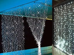 Wholesale Outdoor Waterfall Led Light - Wholesale-3Mx3M 360LED Waterfall LED String Outdoor Christmas Wedding Curtain Fairy Lights Lamps New Year Decoration AC220V Luminaria