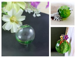 Wholesale Glass Globe Bulb Pendant - 20Pcs Green Glass Globe Pendant With Opening hole on both ends(2 Sizes available),Glass Bulb Vials