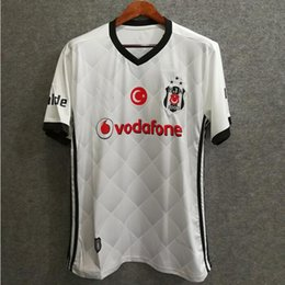 Wholesale Sporting Football Club - ^_^ Wholesale 17 18 Besiktas JK home white soccer jerseys Turkey CLUB custom PEPE QUARESMA thai aaa quality Sports Outdoors football shirts