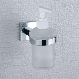 Wholesale Liquid Wall Dispensers - Liquid Soap Dispenser Pump Wall Mount Refill Built In Soap Lotion Dispenser for Bathroom ,Polish Chrome