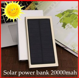 Wholesale Powerbank Brand - Customized LOGO NEW Brand 20000mAh Portable solar power bank Brand Powerbank backup Power Supply battery Power charger as gift