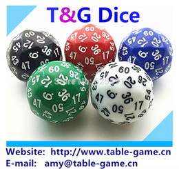Wholesale Quality Board Games - T&G dice 1pc High quality 60 sided dice,D60 dice,polyhedral dice for board game,number 1-60,Dungeon and Dragons rpg d&d dados