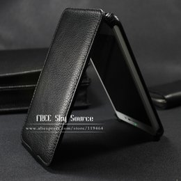 Wholesale Luxury Dual Sim - Wholesale-(Sale) Factory Top Luxury Genuine Leather Case For Samsung Galaxy Core II 2 Dual SIM G355H Lichee Style phone leather sets Cover