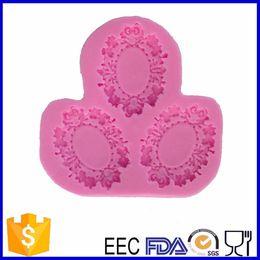 плесневые магазины Скидка Wholesale- bake tool factory shop , mirror design cake silicone fondant mold for cake decorating tool -508