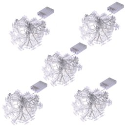 Wholesale Led Flower Battery Lights - Wholesale- 4.5m 40Led Flowers Led string garland light Christmas New year Wedding Holiday Party home luminaria decoration lamp