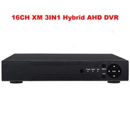 Wholesale 16ch Cctv Hybrid Dvr - Security&Surveillance 16ch CCTV 720P AHD DVR AHD-M Hybrid DVR 1080P NVR Digital Video Recorder For AHD Camera IP Camera Analog Camera