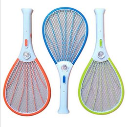 Wholesale Mosquito Killer Zapper - Mosquito Nets Swatter Bug Insect Electric Fly Zapper Killer Racket Rechargeable With LED Flashlight Household Sundries Pest Control