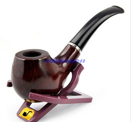 Wholesale Tobacco Pipes For Wholesale - Durable Wooden Smoking Pipes holder Pipes for smoking Tobacco Cigar Pipes Smoking Accessories free shipping