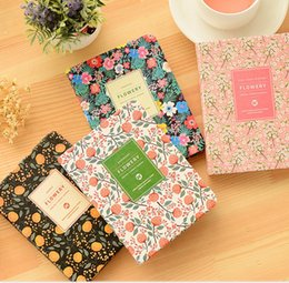 Wholesale Weekly Planners - New Arrival Cute PU Leather Floral Flower Schedule Book Diary Weekly Planner Notebook School Office Supplies Kawaii Stationery