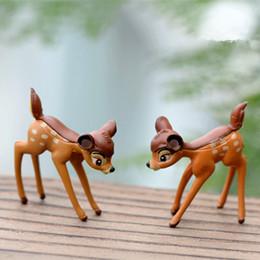 Commercio all'ingrosso artificiale mini cervo sika fata giardino gnomi in miniatura muschio resina artigianato figurine per la decorazione domestica accessori da mini gnome giardino all'ingrosso fornitori