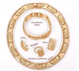 Wholesale Dubai Accessories - westernrain Fashion jewelry Dubai wedding sets of 4 piece gold plating Bride wedding dress accessories