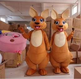 Wholesale Kangaroos Costumes - free shipping High quality 2015 Brand New kangaroo mascot costume Adult size Fancy costume Costumes