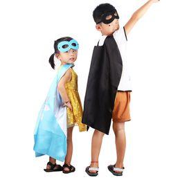 Wholesale Black Kids Capes - Gold Hadns 70*70cm Costume Kids Superhero Green Lant Spiderman Ironman Kids Capes High Quality Praty Dress Halloween Costumes Free Shipping