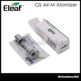 Wholesale Dual Clearomizer - 2015 Eleaf GS Air-M Dual Coil Atomizer 4ml GS Air Mega Pyrex Clearomizer 1.5 Ohm with Airflow Control 100% Original