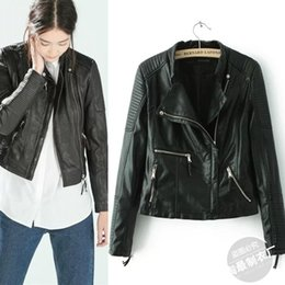 review-review with best reviews - Pick up the 16-26XH1512 Europe 2015 new female leather motorcycle jacket leather coat short