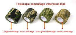 Wholesale Camouflage Adhesive Tape - Mix Color Self Adhesive Elastic Bandage Army Camo Wrap Rifle Shooting Hunting Camouflage Cohesive Tape 4.5m