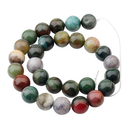 Wholesale 14mm Agate Beads - Natural Fancy Jasper 14mm Round Beads for DIY Making Charm Jewelry Necklace Bracelet loose 28PCS Stone Indian Agate Beads For Wholesales