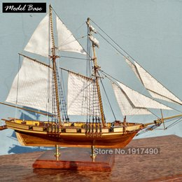 Wholesale Laser Kit Diy - Wooden Ship Models Kits Educational Toy Model Boats Wooden 3d Laser Cut Model-Ship-Assembly Diy Train Hobby Scale 1:96 Harvey