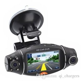 "Wholesale Dual Lens Dvr Gps Logger - Car DVR Camera Double Lens 140 Degrees 2.7"" Screen Infrared Night Vision Car Camera with GPS Logger and G-Sensor R310"