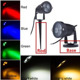 2019 spotlichtbasis 6W / 10W LED-Landschaftslicht-Wand-Außen Spot-Licht Yard Pfad Teich LED Rasen-Lampe LED-Scheinwerfer mit Rod Base-85V - 265V 12V wasserdichtes Licht günstig spotlichtbasis