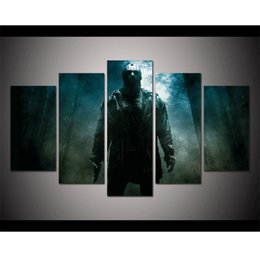 Wholesale Nude Landscapes - Jason Voorhees En Viernes 13,5 Pieces Home Decor HD Printed Modern Art Painting on Canvas (Unframed Framed)