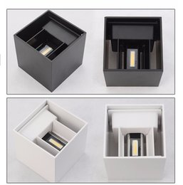 Wholesale Pp Gardens - Wholesale-IP67 Outdoor Led Wall Lamp Aluminum Adjustable Surface Mounted Cube Led Garden Porch Light PP-021