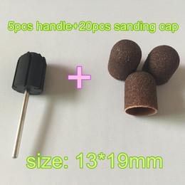 Wholesale Mm Nail Art - 2015 New Beauty Nail Art Tools 13*19 mm 20pcs Sanding Bands + 5pcs Nail Drill Grips Accessories for Nail Drill Machine Tools