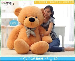 Wholesale Large Plush Teddy - New 200cm 3 Colors Giant Large Size Teddy Bear Plush Stuffed Toy Lowest Price Birthday gifts