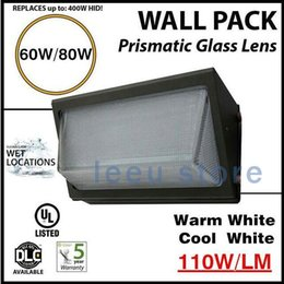 Wholesale Led Wall Packs Wholesale - IP65 cree 60W 80W led wall pack light lamp outdoor mounted light lamp equivalent 400W traditional wallpack lamp AC 90-277V CE SAA ETL