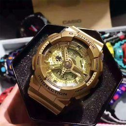 Wholesale function run - AAA new mens ga100 Sports led Watches Digital Waterproof 100m shock Women clock Fashion Men Military Watches Multi-function running G Watch