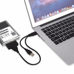 cavo adattatore per dati di alimentazione Sconti 2017 Nuovo formato portatile Dual USB a SATA Line USB2.0 Adattatore cavo dati e alimentazione