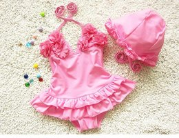 Wholesale Korean Children Swimsuit - 2016 new children's spa skirt piece swimsuit girls swimsuit children cute Korean children baby BH1710