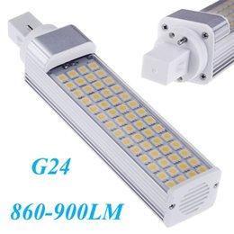 Wholesale G24 Led 22w - White Warm White Led Lighting Lamp 100-240V 860-900LM 180 degree 56 LEDs 5050 SMD G24 10W Energy Saving Led Bulb Lamp Light