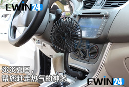 Wholesale Car 12v Mini Fan - New and good quality Mini 12V 250g Car Vehicle Air Cooling Fan plastic Cooler Flexible 2pcs