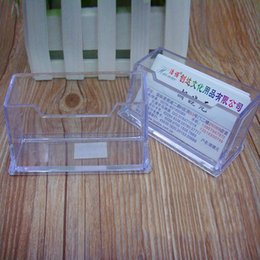 Wholesale Business Card Holder Large Capacity - Wholesale Plastic Business Card Holder Transparent Card Display Stand Office Table Large Capacity Business Cards Holder ZC0071