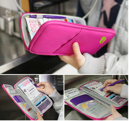 Wholesale Hot Journey - HOT useful fashion Convenient multicolor Travel Journey Fabric Passport ID Card Holder Case Cover Wallet Purse Organizer 1203#03