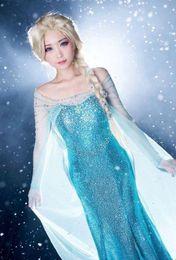 Wholesale Dress Spotted - spot goods women pure manual COSPLAY Frozen queen Elsa adults dress