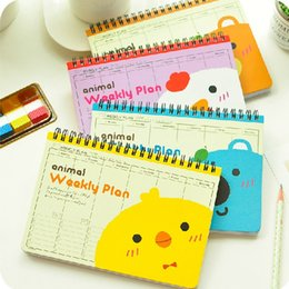 "Wholesale Hardcover Notebooks - ""We R Animals"" Spiral Coil Bound Diary Any Year Cute Planner Pocket Journal School Study Notebook Agenda Scheduler Notepad Memo Kawaii Gift"