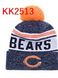 Wholesale Bear Warmer - hot sale 2017 Chicago beanie Bears hats Men Cool Women Sport warm winter beanies with pomp Caps Hats Accept Drop ship