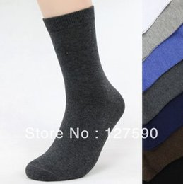 Wholesale Men Classic Socks Color - Wholesale-Man Socks Cotton Hosiery Sock Pure Color Classic Business Socks gentleman Anti-bacteria Excellent Sock