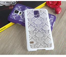 Wholesale S4 Flower Case - Vintage Damask Mandala Datura Henna Flower Matte Hollow Hard Case For Samsung Galaxy S4 Mini S5 S6 S7 Edge Plus Note 3 4 5 A310 2016 J5 J7