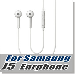 Wholesale Oem Earphone - For Samsung S6 earphone OEM 3.5mm Tangle Free Stereo Headset with Microphone and Volume Key For Smart Phone -Withou Retail Packaging -White
